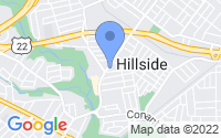 Map of Hillside NJ