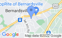 Map of Bernardsville NJ