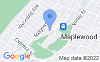 Map of Maplewood NJ