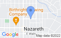 Map of Nazareth PA