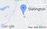 Map of Slatington PA