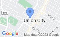 Map of Union City NJ