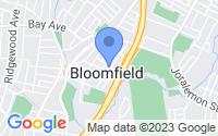 Map of Bloomfield NJ