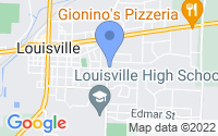 Map of Louisville OH