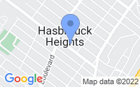 Map of Hasbrouck Heights NJ