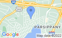 Map of Parsippany-Troy Hills NJ