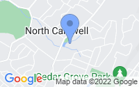 Map of Caldwell NJ