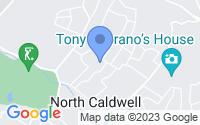 Map of Caldwell NJ
