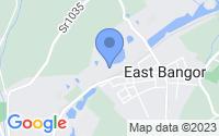 Map of East Bangor PA