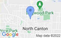Map of North Canton OH