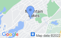Map of Mountain Lakes NJ