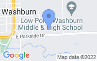 Map of Washburn IL