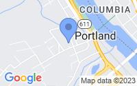 Map of Portland PA