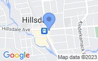 Map of Hillsdale NJ
