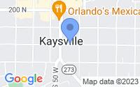 Map of Kaysville UT