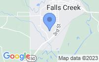 Map of Falls Creek PA