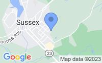 Map of Sussex NJ