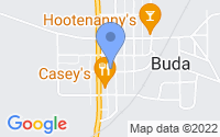 Map of Buda IL