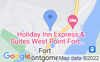 Map of Fort Montgomery NY