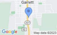 Map of Garrett IN