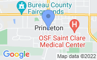 Map of Princeton IL
