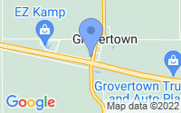 Map of Grovertown IN
