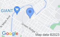 Map of Scranton PA