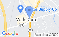Map of Vails Gate NY