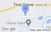Map of Troy Grove IL