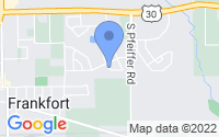 Map of Frankfort IL