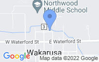 Map of Wakarusa IN