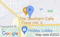 Map of Crest Hill IL