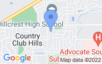 Map of Country Club Hills IL