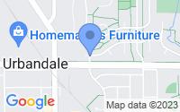 Map of Urbandale IA