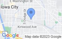 Map of Iowa City IA
