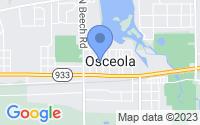 Map of Osceola IN