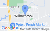 Map of Willowbrook IL