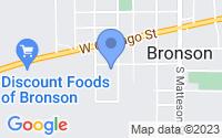 Map of Bronson MI