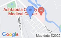 Map of Ashtabula OH