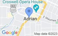 Map of Adrian MI