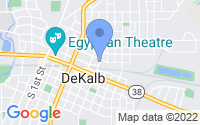 Map of DeKalb IL