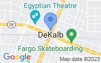 Map of DeKalb IL
