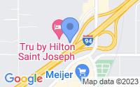Map of Stevensville MI