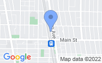 Map of Evanston IL