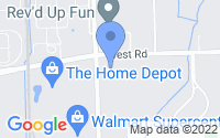 Map of Woodhaven MI