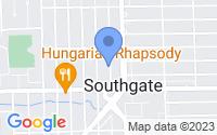 Map of Southgate MI