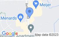Map of Van Buren Charter Township MI