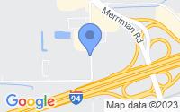 Map of Romulus MI