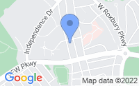 Map of Chestnut Hill MA