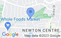 Map of Newton MA